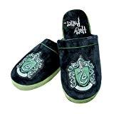 Pantoufles espadrilles peluche Harry Potter Serpentard noir vert