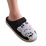 Peluche Slipper Hommes et Femmes Chat Emoji Chaussons Winter Chaud House Shoes