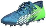 Puma Future 18.4 FG/AG Jr, Chaussures de Football Mixte Enfant, Neongelb/Schwarz
