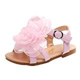 QinMM Filles Sandales Bout Ouvert Tongs Grandes Fleurs Princesse, Ville Bébé Enfants Mode Roman Chaussures Soiree Mariage Beau Souple Été ...