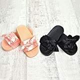 Sandales/nu-pieds enfants filles - satin/soyeux - noeud décoratif - été