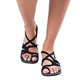 Sandales Plates Tressée,Overdose Été Bohême Chaussures Bout Ouvert Femme Casual Tongs de Plage Flat