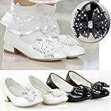 Sandales pour fille - petit talon/noeud avec diamants - mariage - enfant