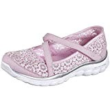 Skechers Flex 2.0-Comfy Crochete, Mary Janes Fille, Rose