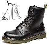 uBeauty - Bottes Femme - Bottes en cuir à fermeture à glissière - Martin Bottes - Boots Flattie Sport - ...