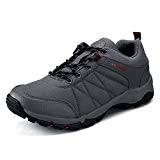 UBFen Homme Chaussures de Sport Randonnée Basses Sneakers Chaussure de Trail Plein Running Mesh Respirante Noir Gris EU 43 C ...