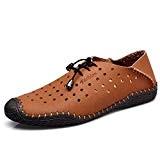 UBFen Hommes Chaussures de Bateau Cuir Fendu Conduite Flâneurs Derbie Mocassin Décontractées Ville Oxford Marron Jaune Bleu Noir