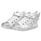 UDreamTime Enfants 7 Couleurs LED Chaussures Clignotant Sneakers Sportifs avec des Ailes