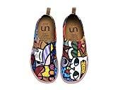 UIN Chat charmant Chaussures bateau de toiles casual multicolore pour femme