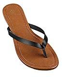 wealsex Tongs Plates PU Cuir Femmes Chaussures Sandales Flip Flop Plage Piscine Simple Classique Grande Taille 40 41