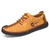 Yaer Mocassins Décontractés pour Hommes, Chaussures de Sport en Cuir Chaussures de Conduite Respirantes