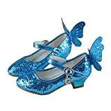 Yy.f YYF Fille Ballerines Mignon avec Paillettes et Papillon Brillant