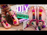 SANDALES A POMPONS | DIY