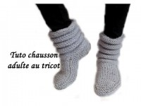 Tricot | Chausson/Chaussette pour Adulte